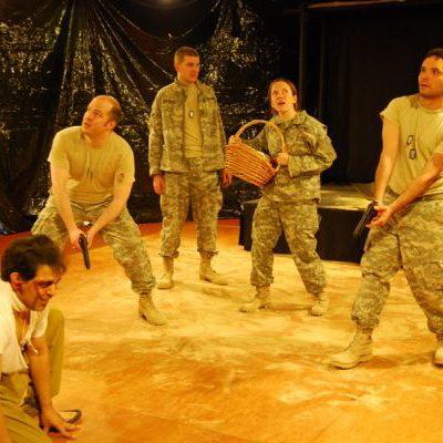 MILITANT LANGUAGE at Halcyon Theatre. photo by Adam Dodds