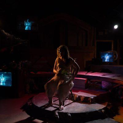Estrella Cruz [the junkyard queen] at Halcyon Theatre. photo by Tom McGrath